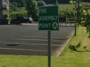 Fire Assembly Point for Blocks 1 & 2
